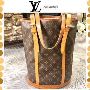 Authentic Louis Vuitton Monogram Bucket tote